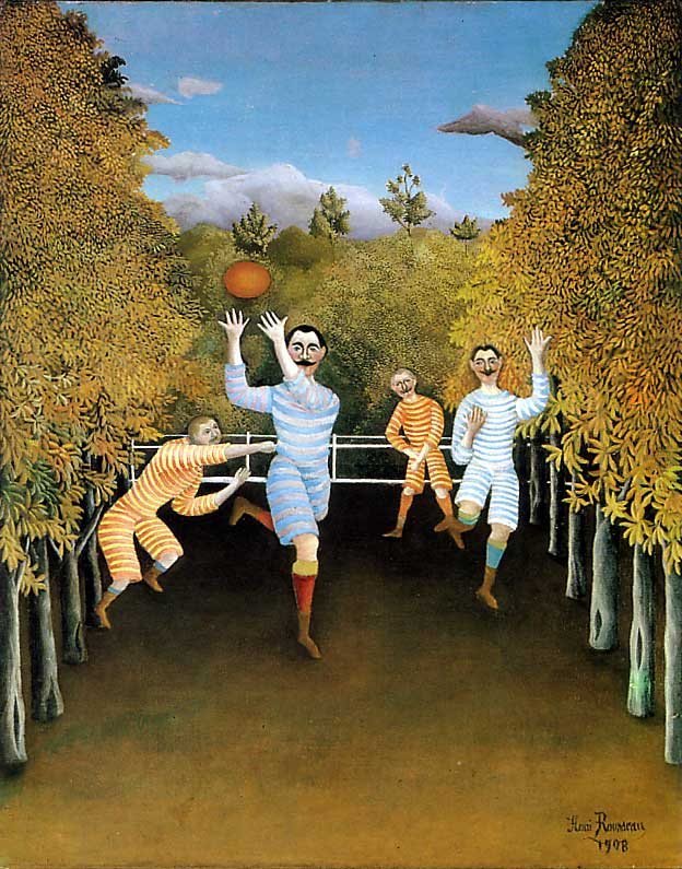 "Henri Rousseau, ""The Football Player"""