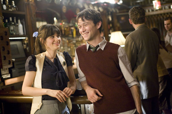 "Deschanel, Gordon-Levitt in ""500 Days of Summer"""