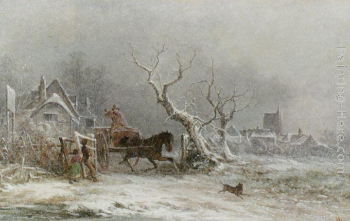 """George Austustus Williams, """"Snow Storm"""""""