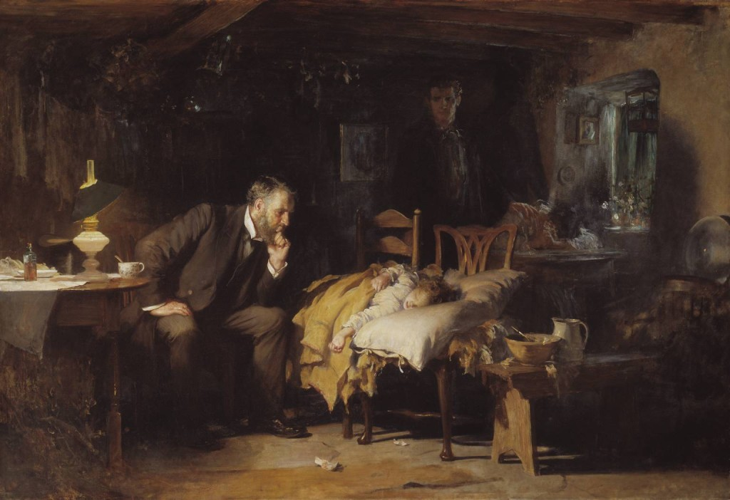"Sir Luke Fildes, ""The Doctor"""