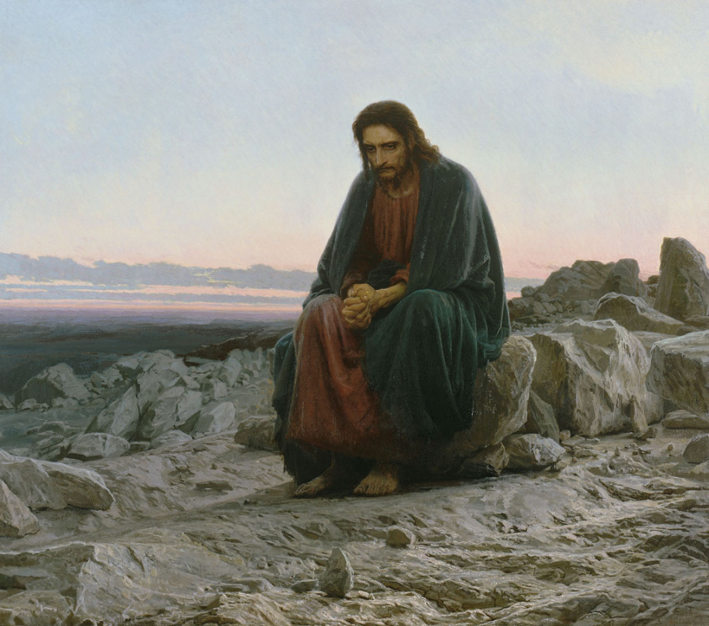 "Ivan Kramskoi, ""Christ in the Wilderness"""