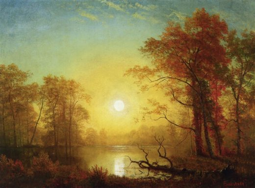 "Albert Bierstadt, ""Sunrise"""