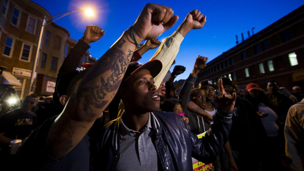 Baltimore protesters