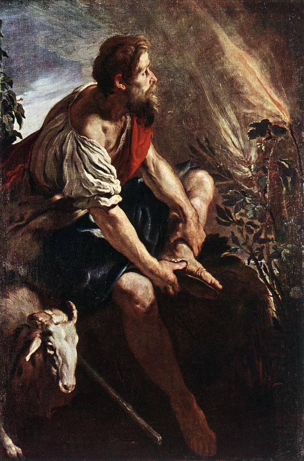 "Domenico Fetti, ""Moses before the Burning Bush"""