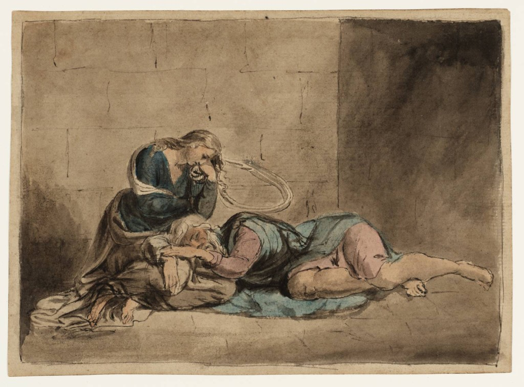Lear and Cordelia in Prison circa 1779 William Blake 1757-1827 Bequeathed by Miss Alice G.E. Carthew 1940 http://www.tate.org.uk/art/work/N05189