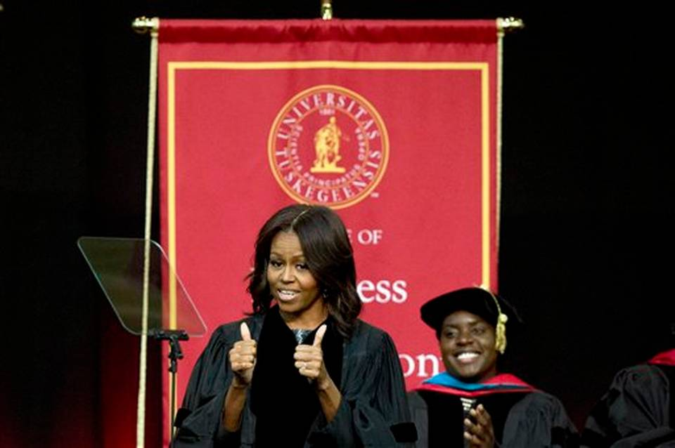 Michelle Obama at Tuskegee commencement
