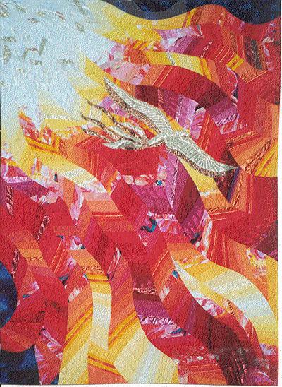 """Linda Schmidt, """"Pentecost Quilt"""""""