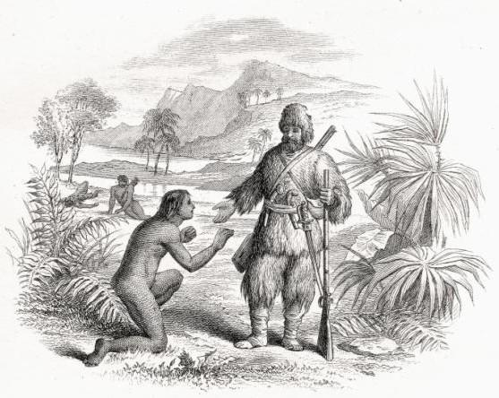 "Illus. from ""Robinson Crusoe"""