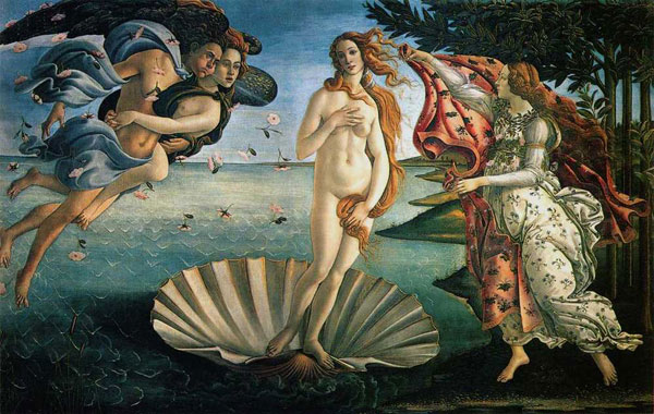 "Botticelli, ""Birth of Venus"""