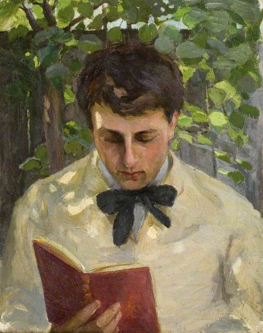 "Albert Ranney Chewett, ""Young Man Reading"""