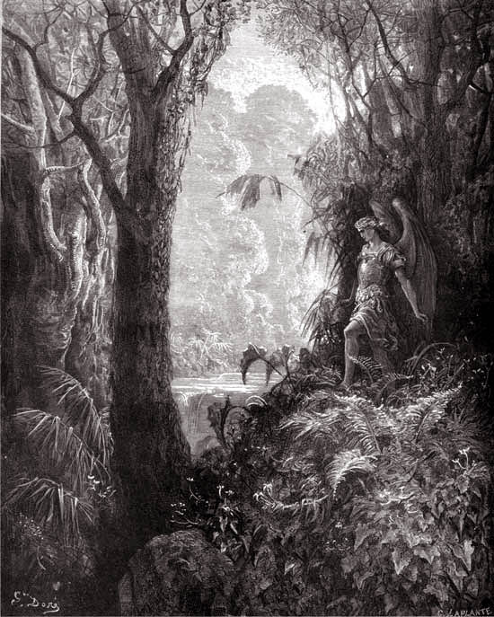"Gustave Doré, ""Satan in the Garden of Eden"""