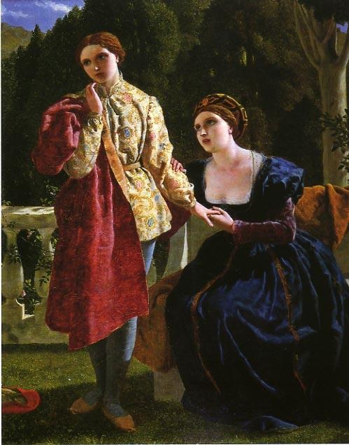"Frederick Richard Pickersgill, ""Oliva wooing Viola"""